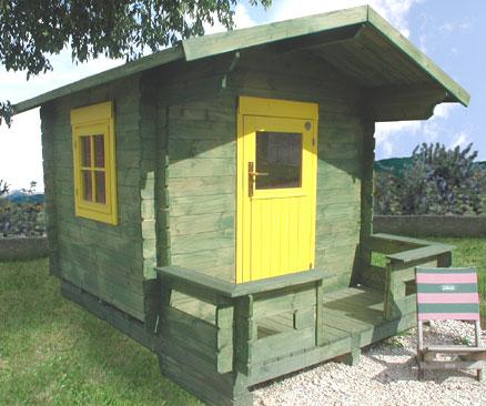 Petit bungalow cabane camping bungalows en bois vente for Prix cabane de jardin