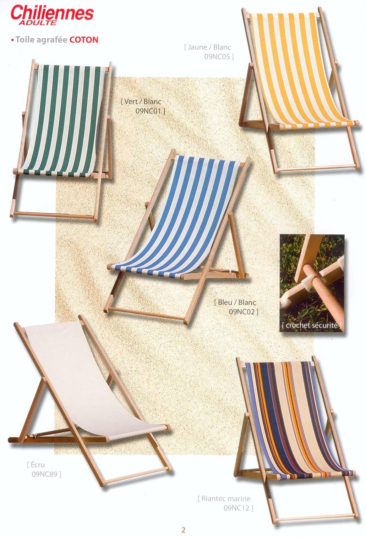 Transats bains de soleil et chaises longues for Chaise longue bois toile