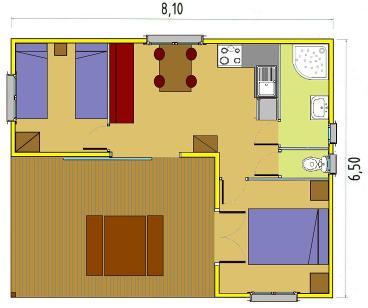 plan bungalow bois 20m2. Black Bedroom Furniture Sets. Home Design Ideas